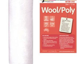 Matilda Own Wool Polyester Batting Wadding - 3.1m wide