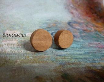 Wooden stick in earrings