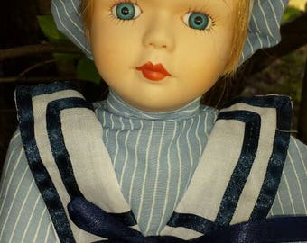 "Haunted Doll Story w / porcelain doll ""Peter"" Age 6 yrs old"