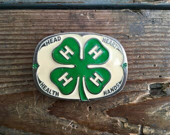 Four Leaf Clover 4-H Belt Buckle