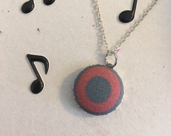 Fishman Phish donut fabric pendant necklace, includes bonus Bernie pendant for a limited time only!