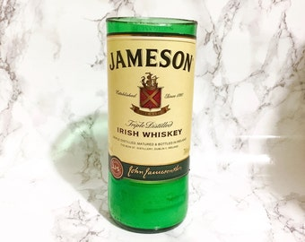 Upcycled Jameson Whiskey Bottle Candle