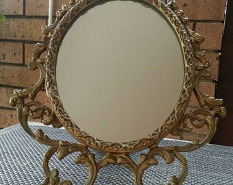 Vintage/Decorative/Bedroom/Mirror/On Stand
