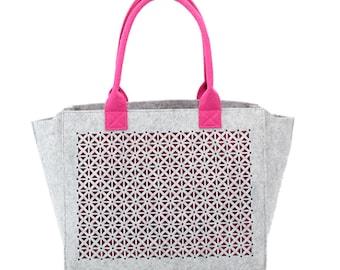 Handbag, felt wool felt shoulder bag, handbag, bolso fieltro felt