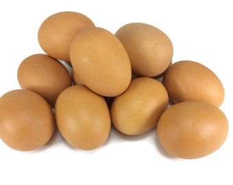 Egg Artificial Lifelike Simulation Faux Fake Chicken Egg 12 Pieces
