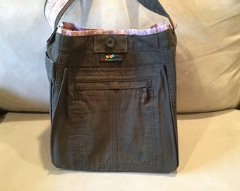 Shoulder Bag made from upcycled cargo pants