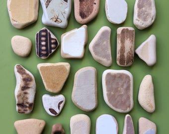 Scottish beach pottery , beach pottery , pottery shards , Scottish sea pottery , sea pottery , genuine sea pottery , mosaic pieces