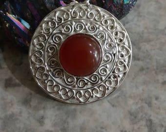 Delicate Carnelian Pendant Necklace