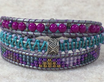 My Muse Triple Wrap Beaded Bracelet