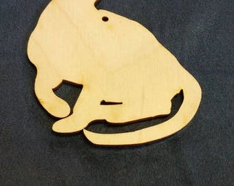 Egyptian Mau cat ornament custom cutout wood