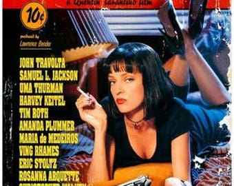 Pulp Fiction Uma Thurman  Rare Vintage Poster