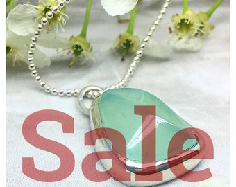 925 Sterling silver, Free style BLUE CARNELIAN CABOCHON pendent (clearance sale)