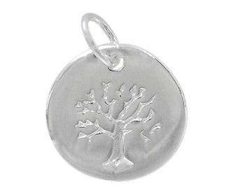 Sterling Silver Tree of Life, Tree of Life Pendant,Sterling Yoga Charm, Family Tree,Zen Charm, DIY, Sterling Silver Supplies, Wholesale,Tree
