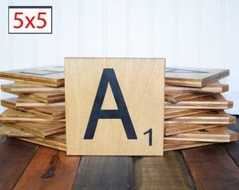 Scrabble wall art, Family Scrabble Art, Large scrabble tiles, Family name sign, 5 inch