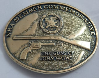 Vintage Belt Buckle Guns of John Wayne
