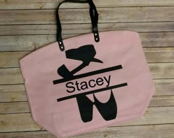 Personalized Dance Tote Bag, Dance Mom, Sports Tote Bag