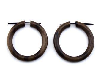 Wooden Hoop Fake Gauges Plugs