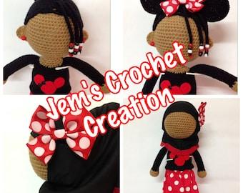 Faceless Crochet hijab doll