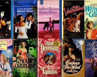 Lot of 14 Vintage Romance Novels -Harlequin, Historical Romance, Variety,