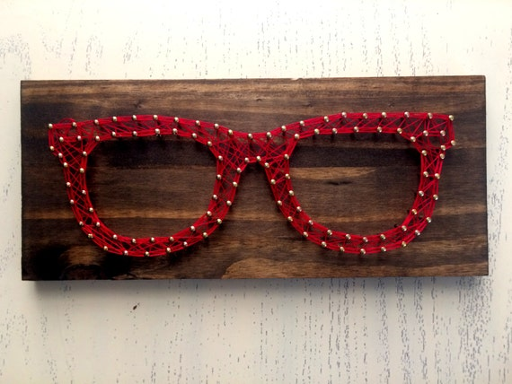 Cadena arte gafas | Arte de nerd | Profesor regalo | Extravagante regalo | Decoración de oficina | Vida de nerd
