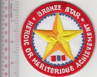 US Army Medal Bronze Star Patch ''Heroic or Meritorious Achievement''