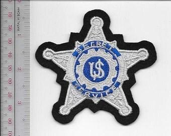 US Secret Service USSS Silver Star Badge Service Appreciation Patch