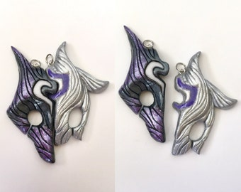 Kindred split charm ~ League of Legends (made to order)