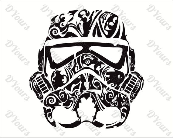 Stormtrooper Star Wars Abstract Floral Vector Model - svg ...