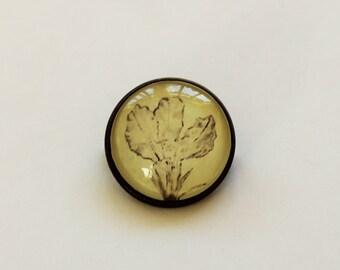 Hand drawn flower brooch
