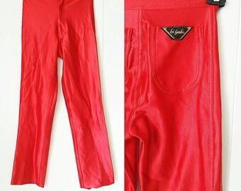 70s Red Le'Gambi Disco Pants
