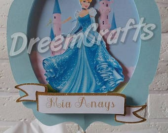 Cinderella Centerpiece. Princess Centerpiece. Cinderella birthday. Princess birthday. Princess party. Cinderella party. DELUXE centerpiece.