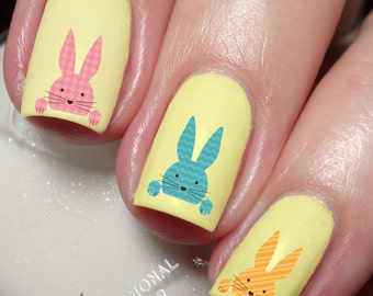 Easter Bunny Nail Art Sticker Water Transfer Decal 105