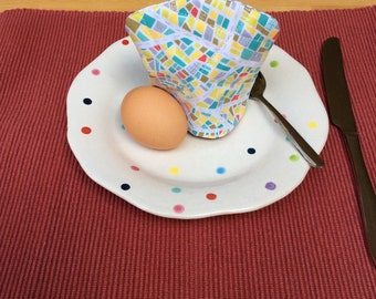 Egg Cosy, Egg Cozy, Egg Warmer, Egg Cosy with Loop, Looped Egg Cosy, Housewarming Gift, Single Egg Cosy, Lined Egg Cosy