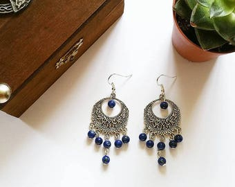 Elven Earrings: Countess Cléo (Lapis Lazuli)