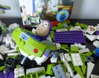 Buzz lightyear Lego pieces,Disney Pixar Toy Story building bricks,7592 set,alien mini figure,construct a buzz,instruction booklet,manual,toy