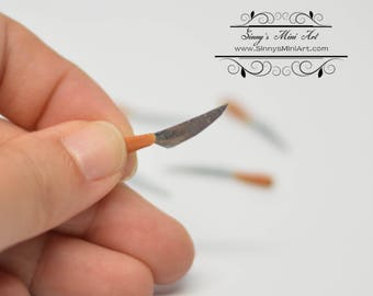 Set of Six 1:12 Dollhouse Miniature Knife/ Miniature Silverware BD H006