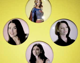 "SUPERGIRL – 1.25"" pinback button"
