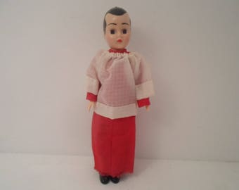 "Vintage Storybook Altar Boy 7"" Doll Catholic Religious Doll"