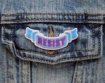 Resist Pin | Resist | Pin | Flair | Lapel Pin | Brooch | 3D Printed | Grandma | Dads | Grads