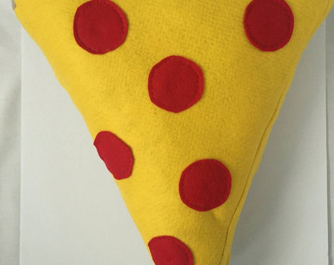 Large pepperoni pizza slice pillow