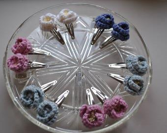 Crochet Flower Hairclip