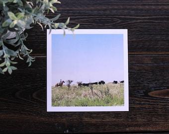 Cowboy Print / Office decor / Desk decor / Living Room decor / Gift for him / Gift for her / Cattle drive