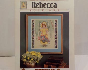 Rebecca-Child-little Girl-Vintage Counted Cross Stitch Patterns 1 Pattern Dimensions