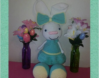 Crochet Easter Bunny Sale 35% Off, Large Easter Bunny, Easter Decorations, Spring Bunnies, Bunny Rabbit, Baby Shower Gifts