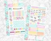 Watercolor Roses PERSONAL Set (matte planner sticker, Filofax, Kikki K, Websters Pages, Color Crush)