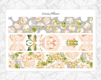 Champagne Bloom PERSONAL washi (matte planner stickers, Filofax, Kikki K, Websters Pages, Color Crush)