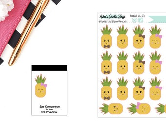 Kawaii Pineapples Sticker for any Planner