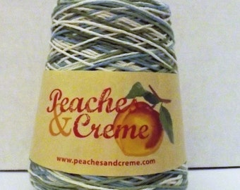 Peaches & Creme Cotton Yarn ~14 Ounce Cone ~  Colour Ivy League ~ #4 Medium Worsted ~ 706 Yards ~ Variegated ~