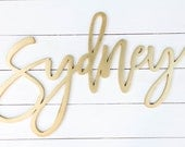 """24""""- 1/4 thick laser cut name sign / custom wood name / laser cut signage / wedding name sign / nursery name sign / baby decor / photobooth"""