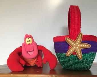 Little Mermaid clothesline basket Easter Ariel